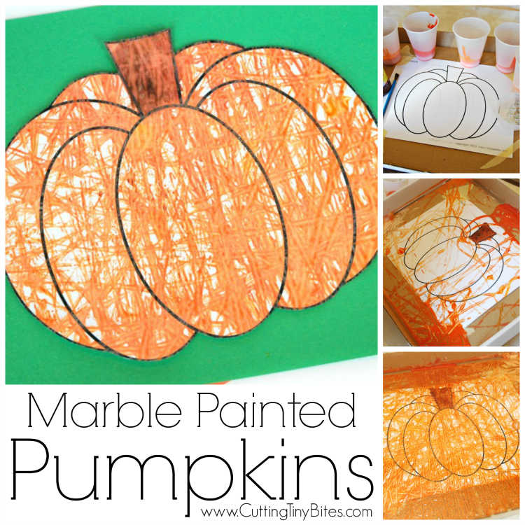 Marble Painting Pumpkins What Can We Do With Paper And Glue