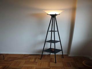 Floor Lamp With A Shelf