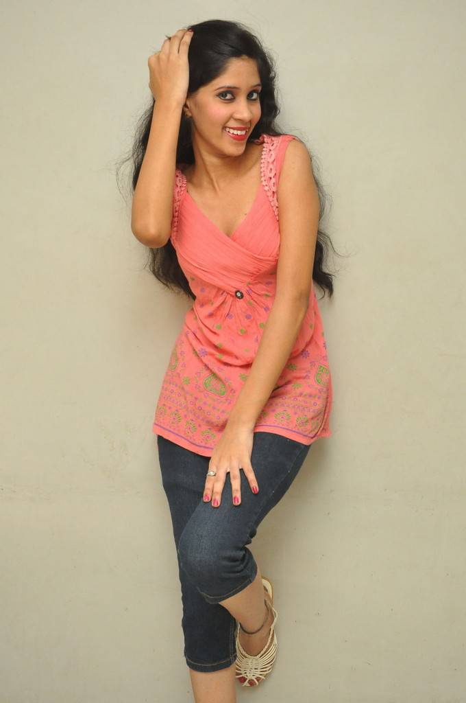 Omu Photoshoot Stills in Orange Red Top