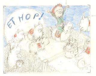album, 'ET HOP', projet couverture, mouton, barrière