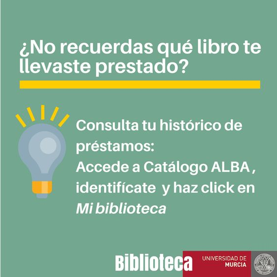 """En ALBA ahora ya puedes......recuperar un listado de tus préstamos desde el """"Histórico de préstamos""""."""