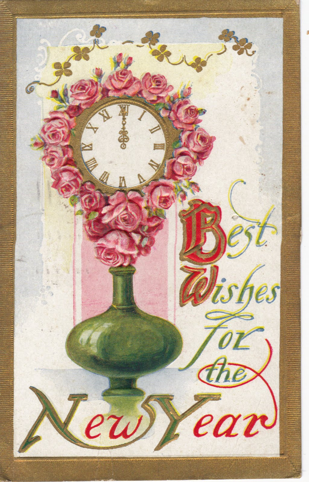 Vintage New Year Greetings And Postcards : Let's Celebrate