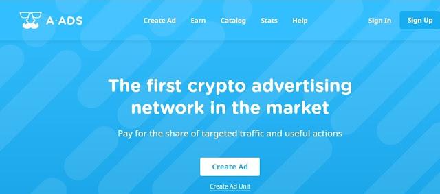 الربح من موقع A-ads