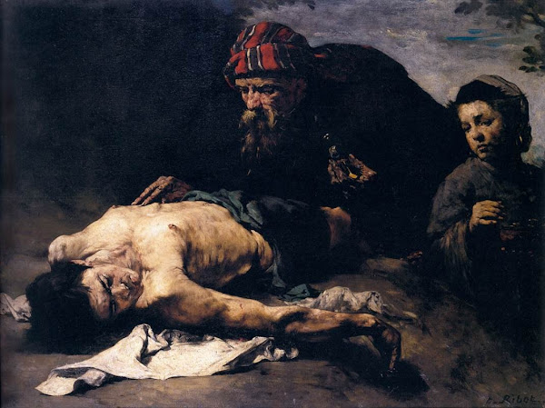 The good samaritan by Théodule-Augustin Ribot, Macabre Paintings, Horror Paintings, Freak Art, Freak Paintings, Horror Picture, Terror Pictures