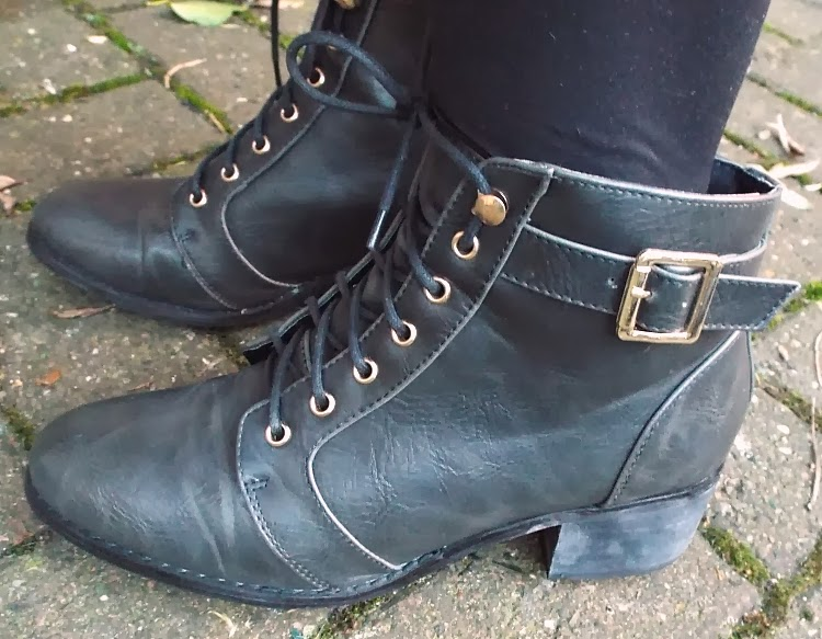 Fashion Is Our Religion, UK Fashion Blog, UK Style blog, OOTD, New Look Lace Up Ankle Boots,