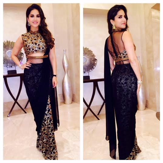 Sunny Leone in Reeti Arneja's creation for Kuch Kuch Locha Hai promotions