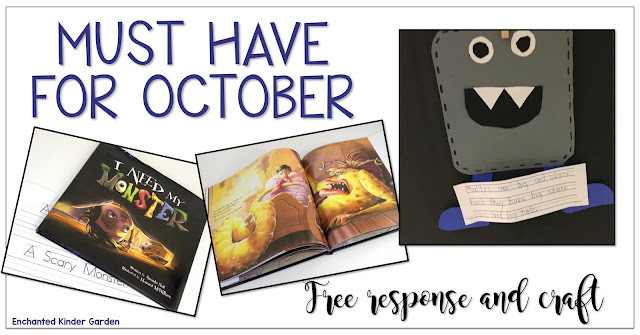 Free October reading response and a craft