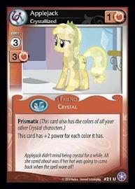 My Little Pony Applejack, Crystallized The Crystal Games CCG Card