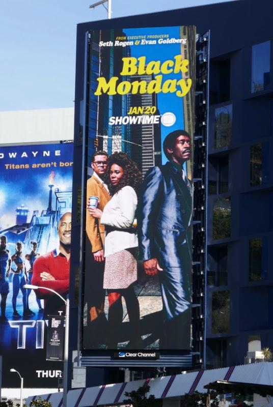 Black Monday series premiere billboard