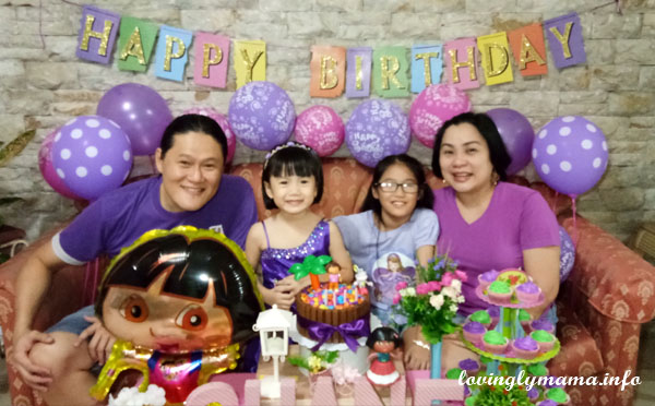 Dora theme birthday party - happy family traditions - Bacolod mommy blogger  - parenting blog - affordable party supplies Bacolod