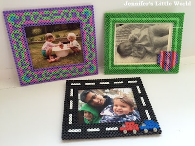 Hama bead themed photo frames