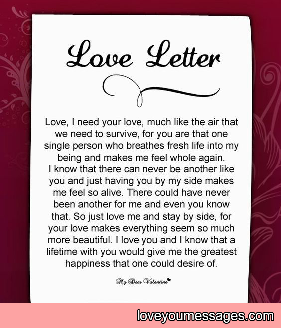 deep and long love letters for her - Love You Messages
