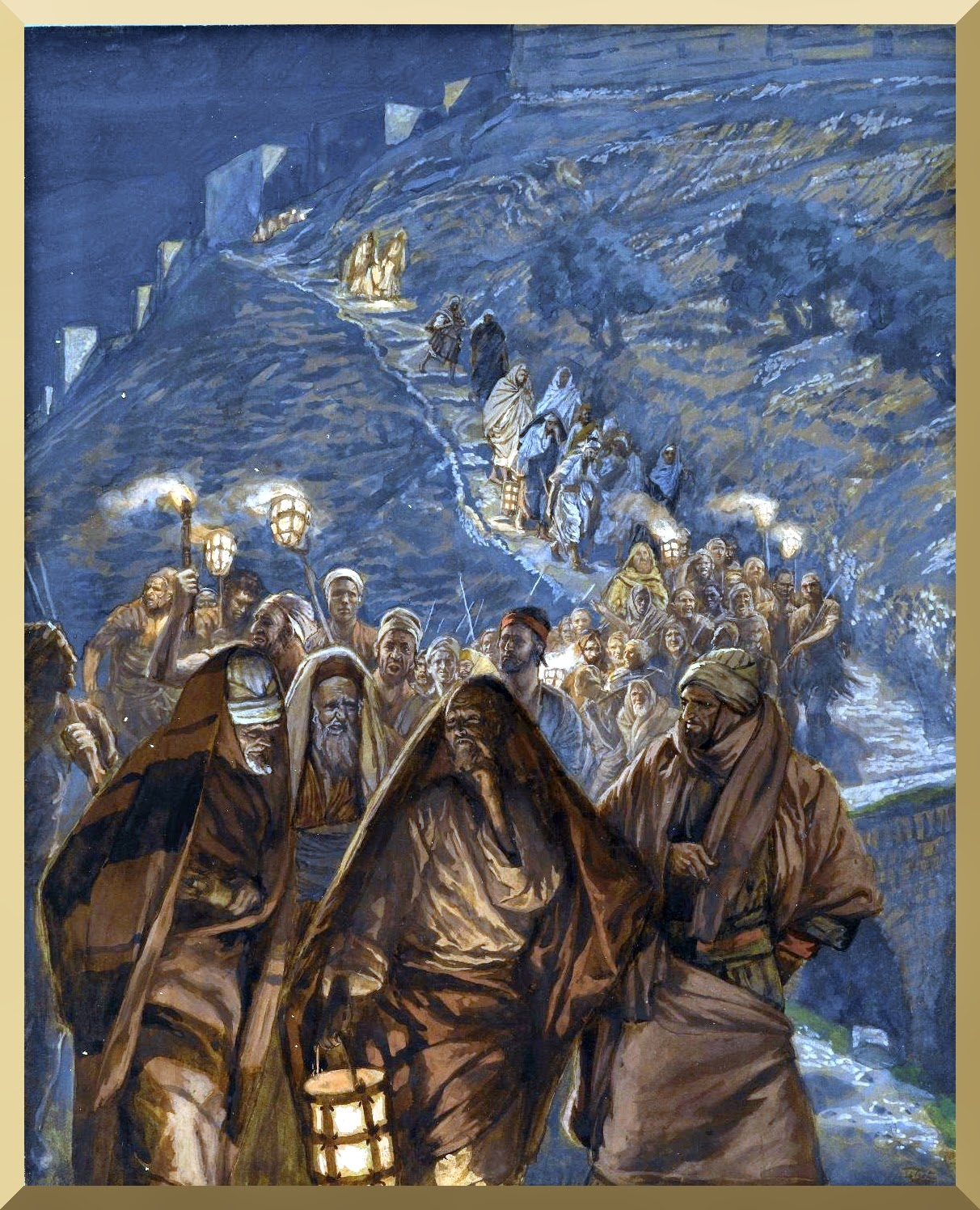"""The Procession of Judas"" -- by James Tissot"