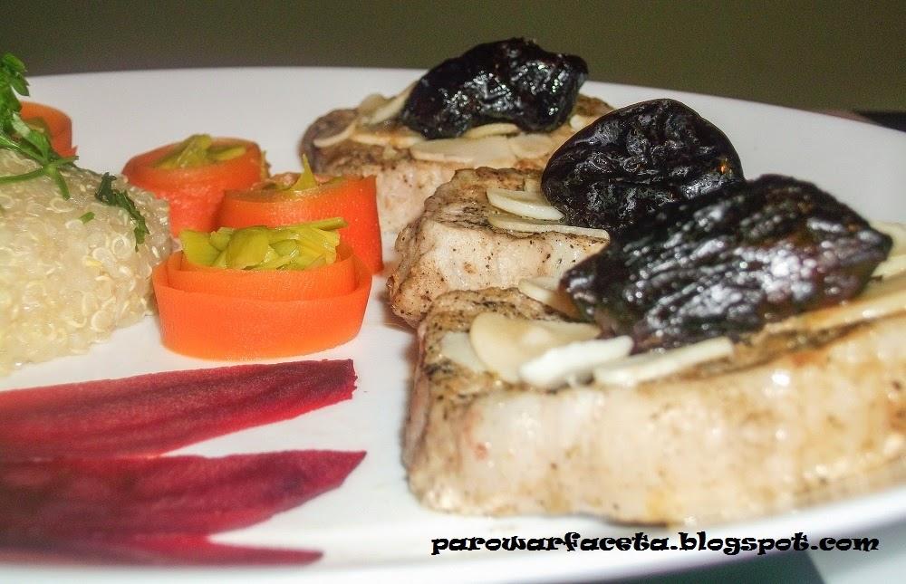 komosa ryżowa z parowaru z mięsem i warzywami