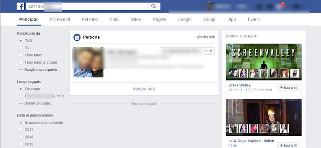 Facebook screen-shot
