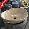 Wastafel marmer oval batualam tulungagung diameter 40 cm