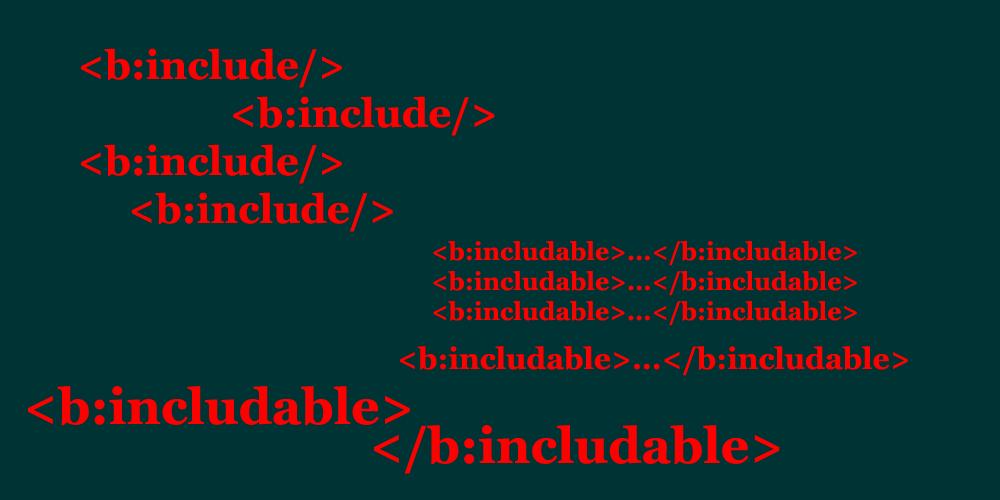 penggunaan tag b include dan b includable