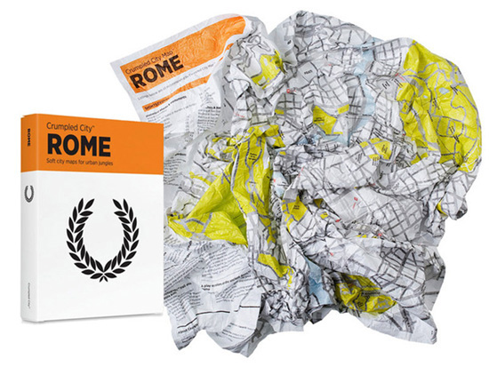 Crumpled City Map de Roma