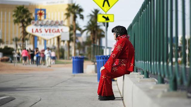 Imitadores na Strip em Las Vegas
