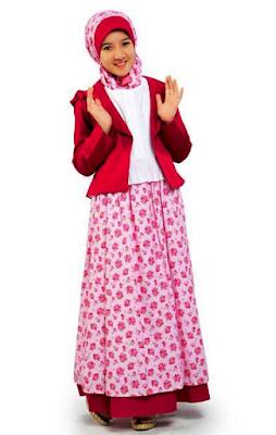 Model Baju Batik Anak Perempuan Terusan