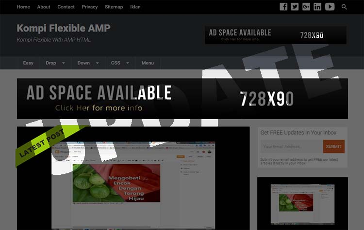Update Premium Template Kompi Flexible AMP V2.00