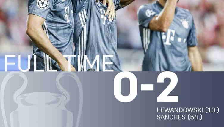 Hasil Benfica vs Bayern Munich Skor Akhir 0-2