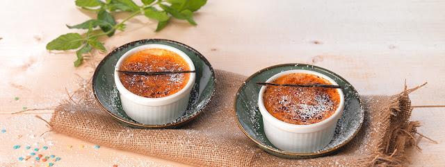 Crème Brûlée με γιαούρτι