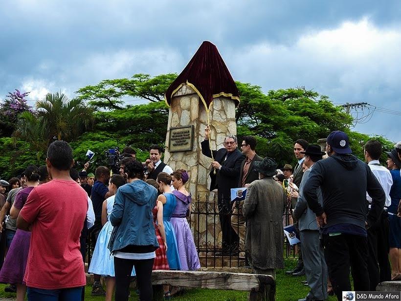 Gravação na Praça Monsenhor Mendes: minissérie Se Eu Fechar os Olhos Agora