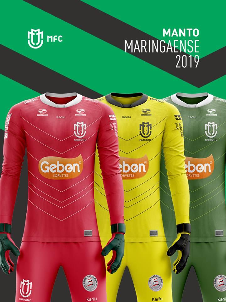 Veja como ficaram as novas camisas do Maringá (PR) para 2019 b147c3eee8668