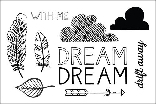 #feather #dream #arrow #leaf #stampset