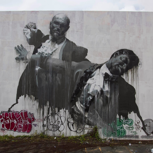 """San Juan Fight Club II"" Second New Mural By Irish Artist Conor Harrington For Los Muros Hablan In Puerto Rico. 7"
