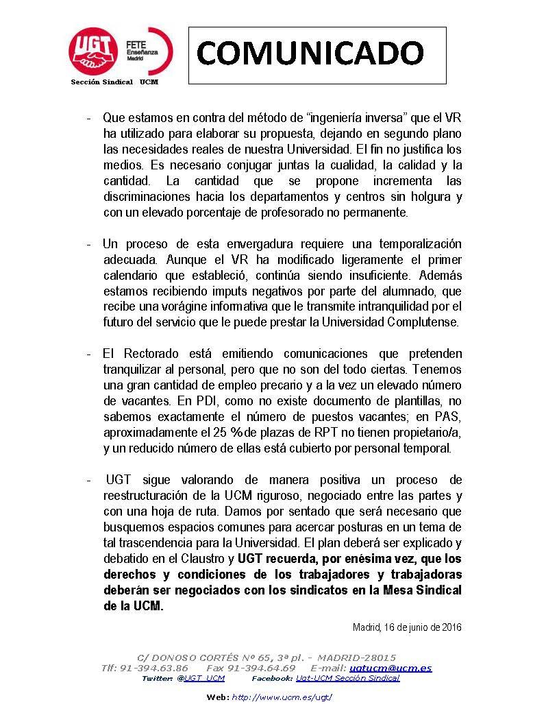 Sección Sindical de UGT en la UCM: UGT ANTE 2ª ENTREGA PLAN DE ...
