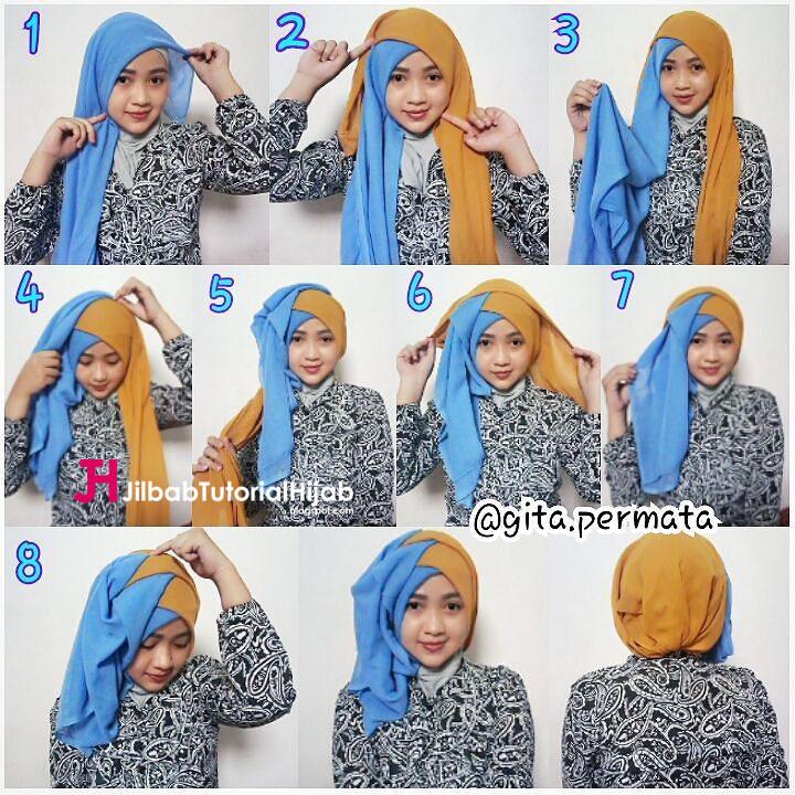 2 6 jilbab kuning