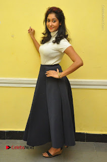 Telugu Actress Sindhu Affan Latest Pos in Black Skirt at Www.Meena Bazaar Movie Opening  0058.JPG