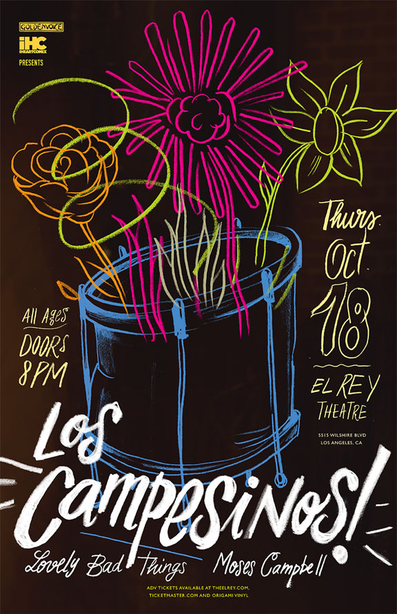 Los Campesinos, The Lovely Bad Things and Moses Campbell- OCT 18th at the EL REY