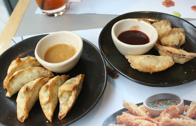 A picture of Wagamama Prawn Gyoza and Duck Gyoza