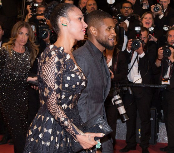Usher and wife Grace Miguel step out at the cannes film festival red carpet