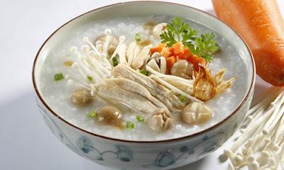 Cháo gà gạo tẻ bổ dưỡng với thai phụ