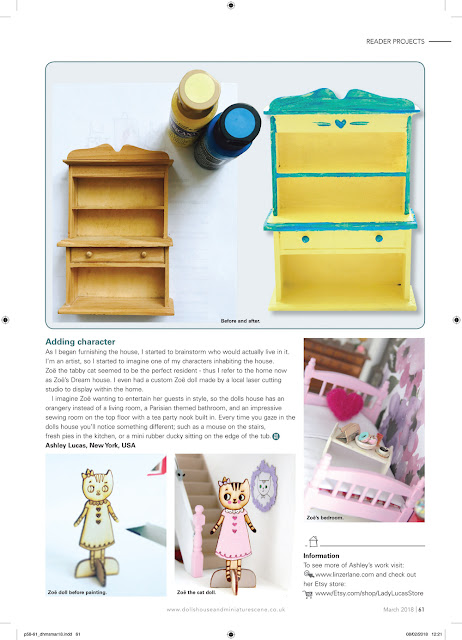 Zoe's Dream House featured in DollsHouse & Miniature Scene!   Dollhouse Makeover Feature   Linzer Lane Blog