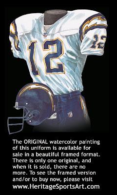 San Diego Chargers 2001 uniform