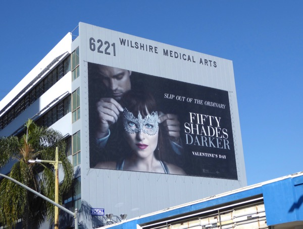 Giant Fifty Shades Darker movie billboard