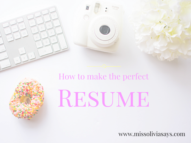 How to write the perfect resume for college students!