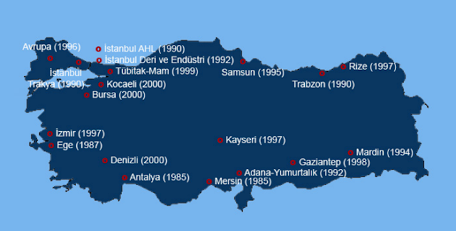 turkey free trade zone map