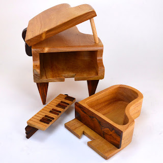 Piano Puzzle Box from Dogwood Hill Gifts open view