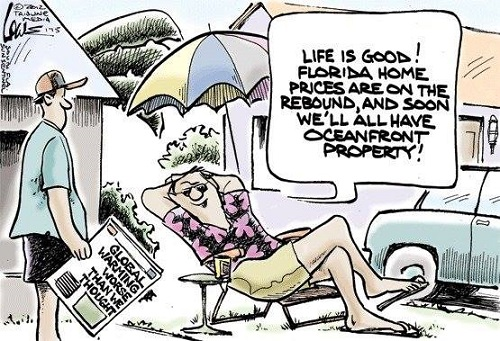 Toon of the Week - Life Is Good!  Florida Prices Are on the Rebound, Soon We'll All Have Ocean Front Property!