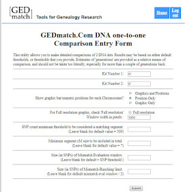 GEDmatch one-to-one