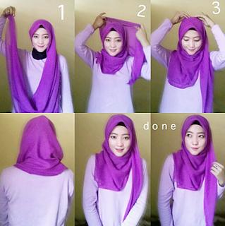 Gambar Tutorial Hijab Hoodie Terbaru Kreasi Cantik
