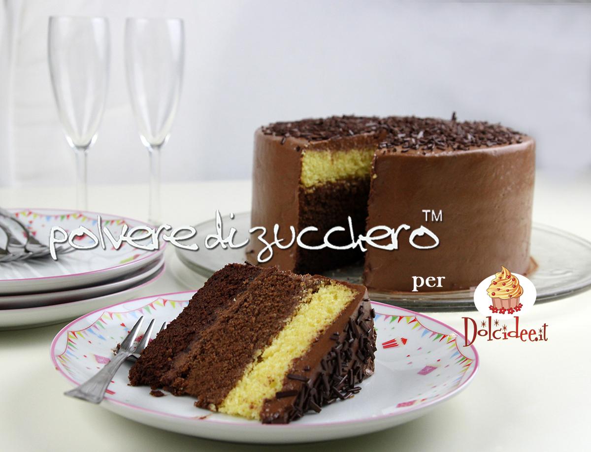 torta cioccolato ombre cake chocolate polvere di zucchero ricetta tutorial passo a passo dolcidee cameo paneangeli