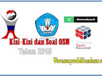 Download Kisi-Kisi dan Soal OSN SMA Tahun 2018