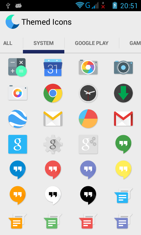 Jenis-jenis  Icon Pack Moonshine.